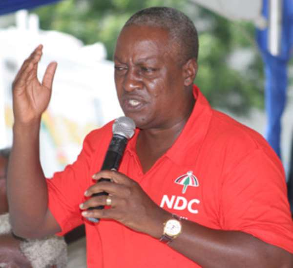 Bentua can be a Deadly Weapon for Staging Coup d'états – former President Mahama to Understand